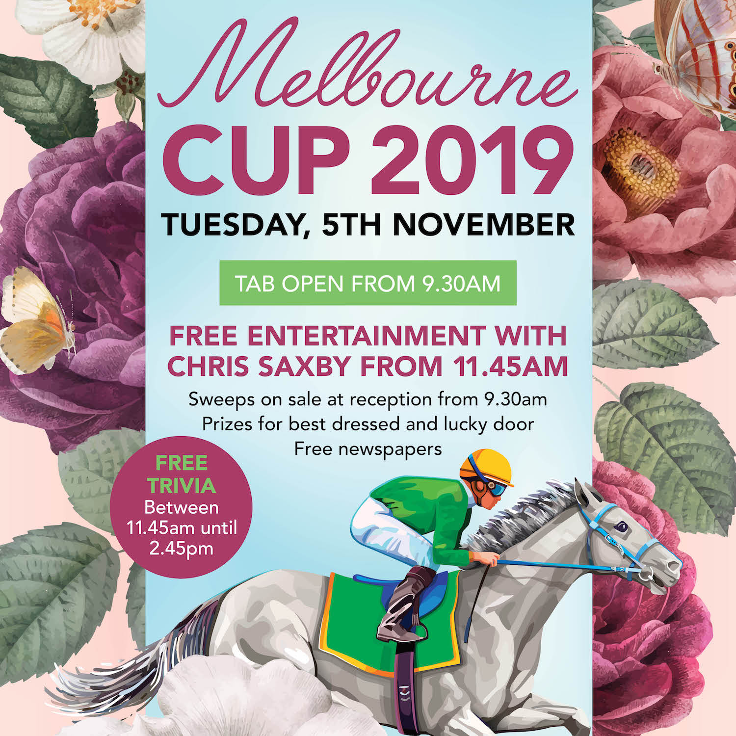 MELBOURNE CUP CARDIFF RSL