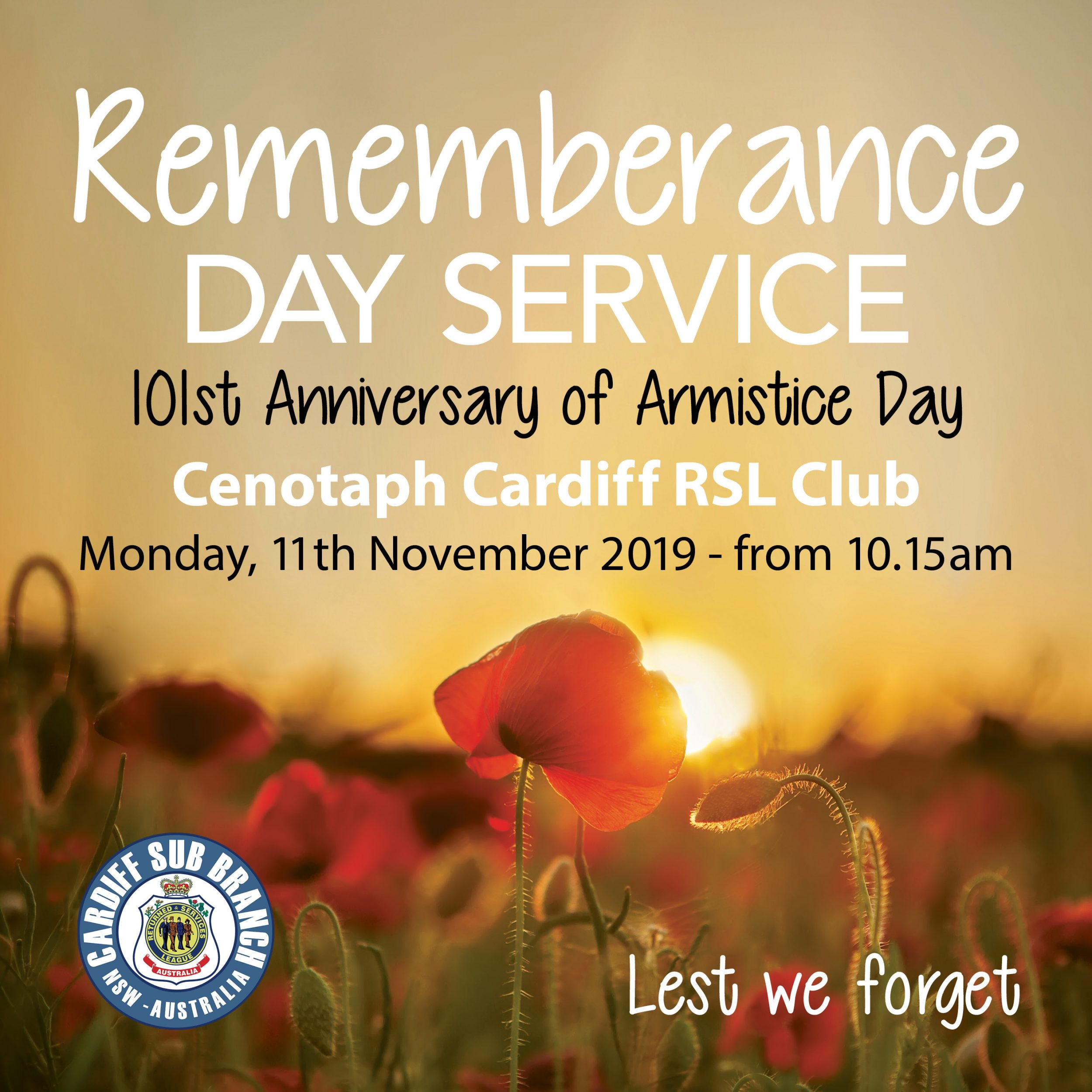 CARDIFF RSL REMEMBRANCE DAY